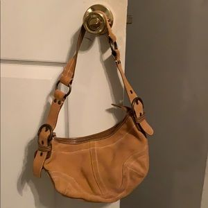 Suede Coach Purse